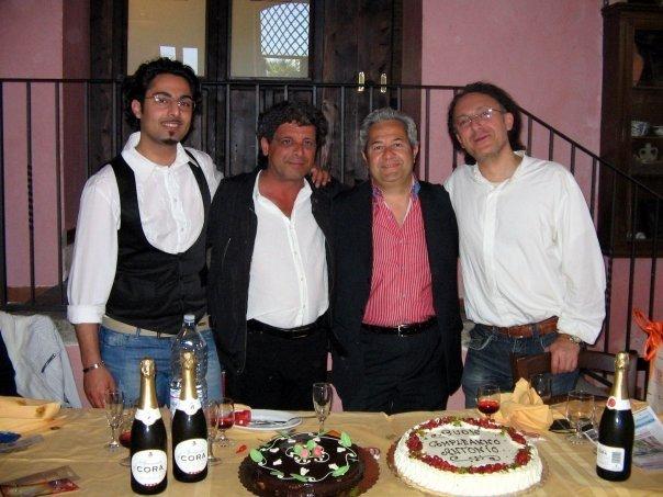 50 anni di Antonio Cunsolo - da sin. Basilio Bruno, Nuccio La Mastra, Antonio Cunsolo, Luigi Di Pino