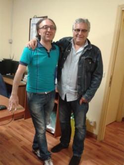 con il prof. Gino Astorina a scuola