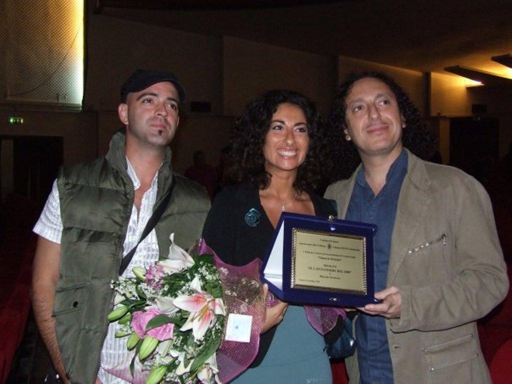 Premiazione con la regista Manuela Terranova