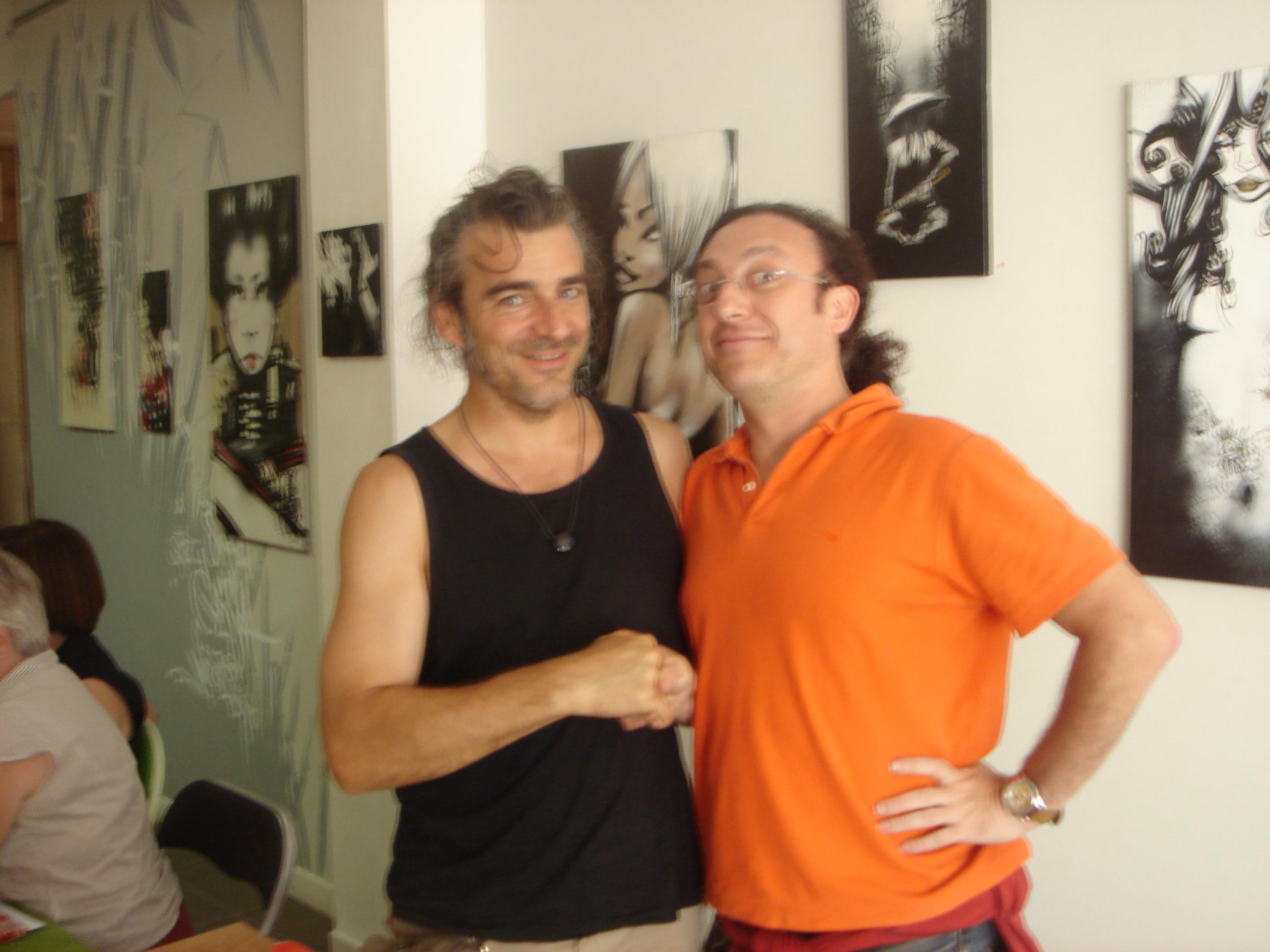 Luigi Di Pino e Luigi Rignanese cantastorie francese