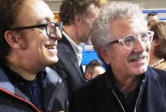 Con Enrico Guarneri - premiato sezione Teatro